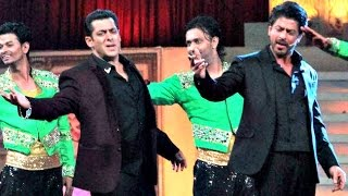 Salman Khan And Shahrukh Khan Performance Rehearsal At Star Screen Awards 2016