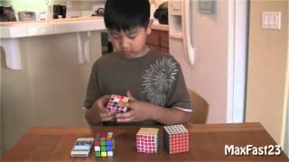 Max Rubiks Cube Challenge 3x3 4x4 5x5 6x6