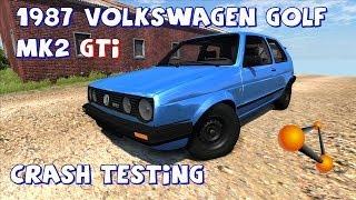 BeamNG Drive 1987 Volkswagen Golf Mk2 GTi (Beta) Crash Testing #50