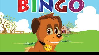 Bingo Dog Song - Nursery Rhymes With Lyrics | Cartoon Animation for Children | Flickbox