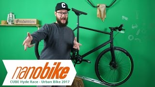 Cube Hyde Race - Urban Bike 2017 | black n flashgreen