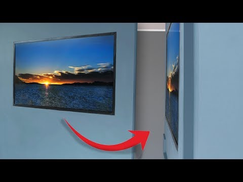 Building a homemade wallpaper TV