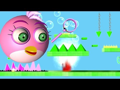 ANGRY BIRDS in Impossible Game GEOMETRY DASH ♫ 3D animated mashup ☺ FunVideoTV Style ;