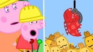 Peppa Pig English Episodes | Peppa Pig's Fun Time At Digger World | Peppa Pig Official