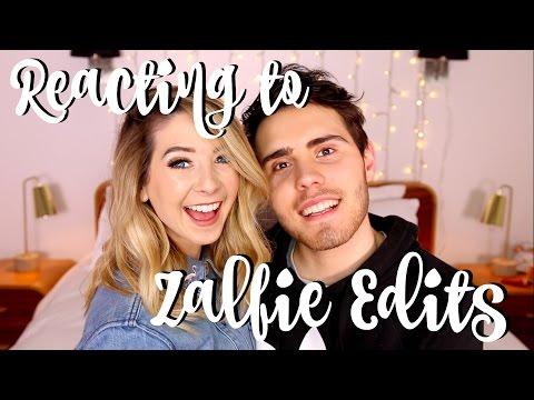 Reacting To Zalfie Edits | Zoella