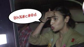 Alia Bhatt CAUGHT ABUSING   VIDEO