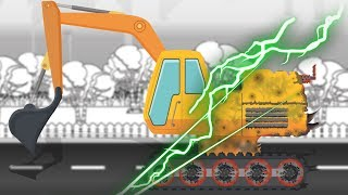 Good and Evil | Excavator | Construction Vehicle | Haunted Vehicle