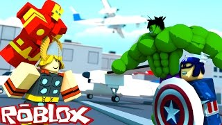 THE AVENGERS WAR IN ROBLOX!