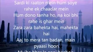 Zara Zara Lyrics   YouTube