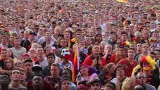 Fußball WM 2014 Fanfest Hamburg Jubel über Einzug ins Halbfinale