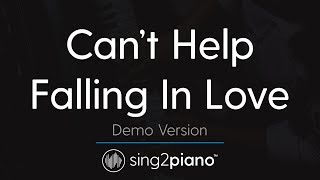 Can't Help Falling In Love (Piano Karaoke Demo) Haley Reinhart
