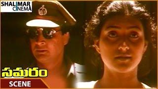 Samaram Movie || Prasad Torturing Roja In Jail || Suman, Roja, Puneet Issar || Shalimarcinema