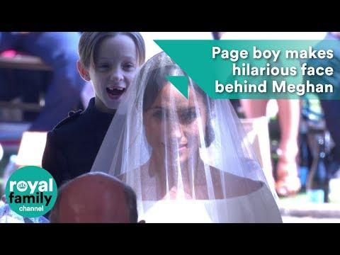 Xxx Mp4 Royal Wedding Page Boy Makes Hilarious Face Behind Meghan Markle 3gp Sex