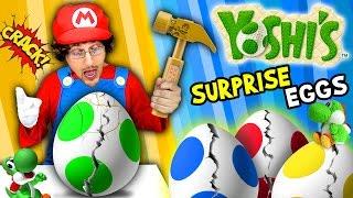 YOSHI'S SURPRISE EGGS!    Trouble Maker Toys!!!   (FGTEEV Skit / Unboxing)