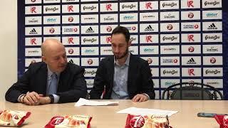 Max Menetti press conference after Grissin Bon - Lietkabelis
