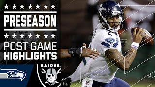 Seahawks vs. Raiders   2016 Preseason Game Highlights   NFL