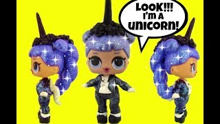 LOL Surprise Doll 🦄 Midnight as UNICORN CUSTOM 🦄 Plus LOL Opening ♥ Color Change ? Doll Story