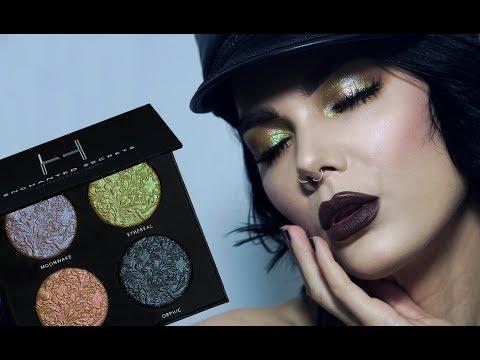 Duochrome Highlighter | Linda Hallberg Tutorials | Enchanted Secrets Palette