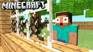 BOY BREAKS GLASS WITH VOICE in Minecraft!