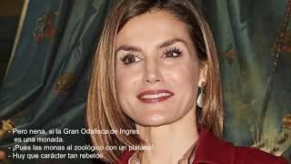 La reina Letizia La Fiztizia avergonzada ante la Gran Odalisca de Ingres