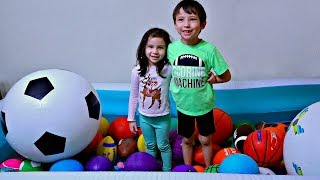 Learn Colors with A-Lot of Sport Ball for Toddlers and Children