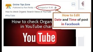 How to Change Date, Time of Facebook Post, Events
