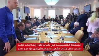 ليبرمان: إسرائيل لن تسمح بنقل جثمان البطش