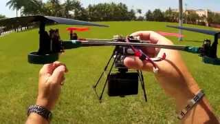 Sports HD 1080P Action Camera on Quadcopter v262 Dual Cam View