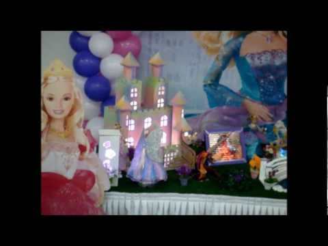 Barbie Decoração Mesa Tema Infantil Festas Arte e Magia