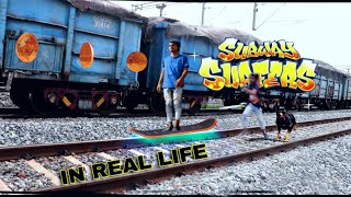 SUBWAY SURFERS in real life by AAK videos.