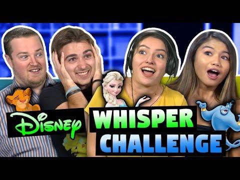 DISNEY WHISPER CHALLENGE ft. FBE React Cast