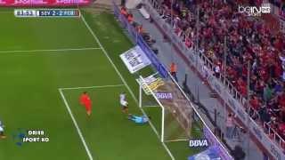اهداف برشلونة واشبيلية 2-2 الجولة الحادية والثلاثين شاشة كاملة