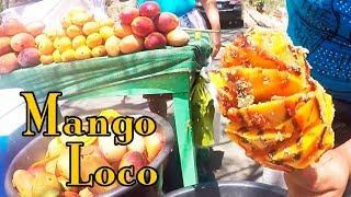 Vendedoras de frutas mango loco en flor carretera litoral salvadoreña ys svl  el salvador