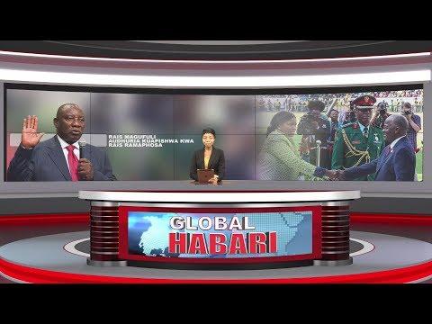 Xxx Mp4 GLOBAL HABARI MEI 25 JPM Ashuhudia Kuapishwa Kwa RAMAPHOSA Ampiga Picha Na Mstaafu KIKWETE 3gp Sex