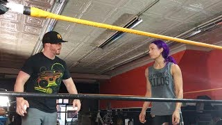 Sasha Banks trains for SummerSlam with champion cruiserweight The Amazing Red