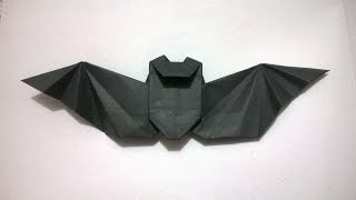 ORIGAMI - COMO HACER UN MURCIELAGO DE PAPEL - How to make a paper bat