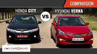 2015 Honda City Vs Hyundai Verna I Comparison Review I CarDekho.com