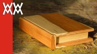 Wooden book keepsake box. Valentine's Day gift idea!