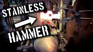 Forging a Hammer by Hand from Stainless Steel (Part 1)