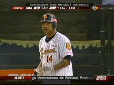 aragua vs caracas home run de castillo juego 6 liga vzl 2009.wmv