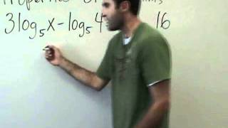 Algebra 2 - Properties of Logarithms