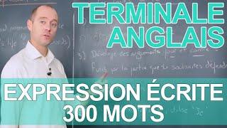 Expression écrite - 300 mots - Le rappel de cours - ANGLAIS - Terminale - Les Bons Profs