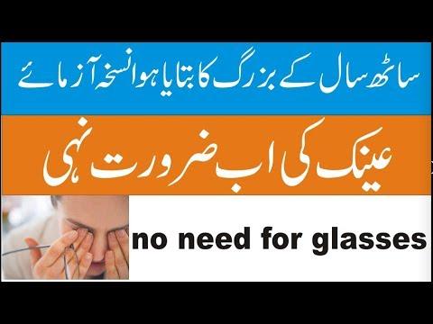 Nazar ki Kamzori K ilaj In Urdu And Hindi