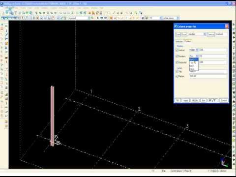 Tekla Structures Training 002 3D XSTEEL COLUMN