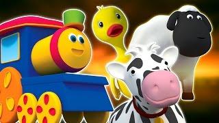 bob kereta | farm lagu | anak-anak sajak | Bob The Train | Farm Visit | Baby Rhyme | Nursery Rhyme