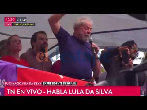 El discurso completo de Lula Da Silva antes de entregarse a la policía
