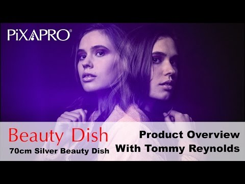 PIXAPRO 70cm WHITE/SILVER Interior Beauty Dish (ft. CITI600 strobe) - with Tommy Reynolds