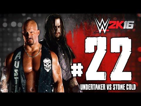 WWE2K16 ستيف اوستن ضد اندرتيكر تختيم لعبة المصارعة 2016