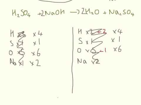 sulfuric acid and sodium hydroxide, question response.