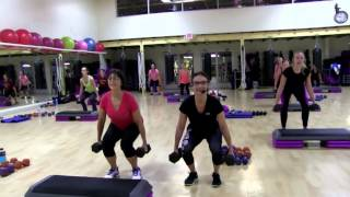 Cathe Friedrich Bootcamp with Step Live Workout Video